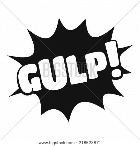 Comic boom gulp icon. Simple illustration of comic boom gulp vector icon for web