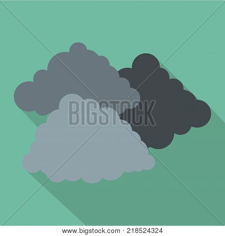 Dark cloudy icon. Flat illustration of dark cloudy vector icon for web