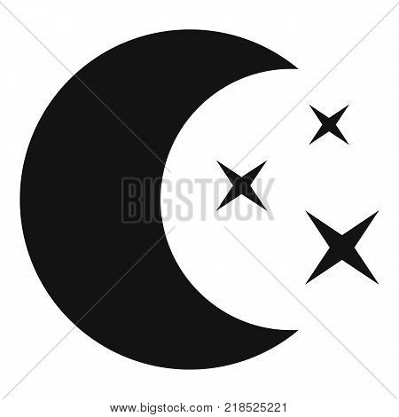 Moon night icon. Simple illustration of moon night vector icon for web