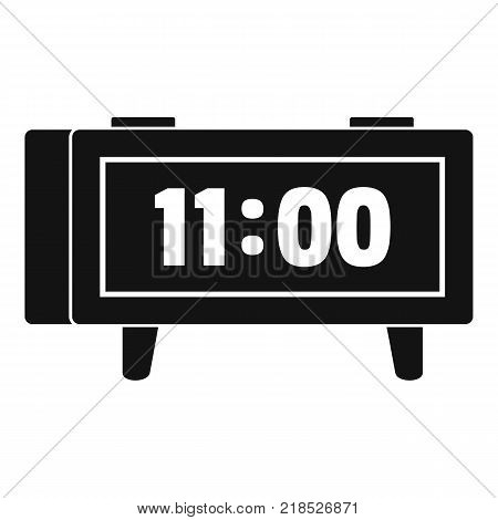 Alarm clock retro icon. Simple illustration of alarm clock retro vector icon for web