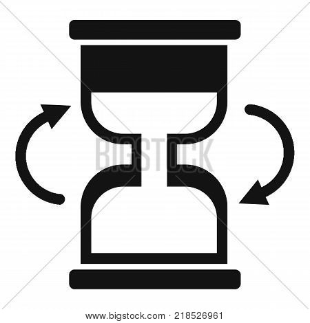 Cursor loading icon. Simple illustration of cursor loading vector icon for web