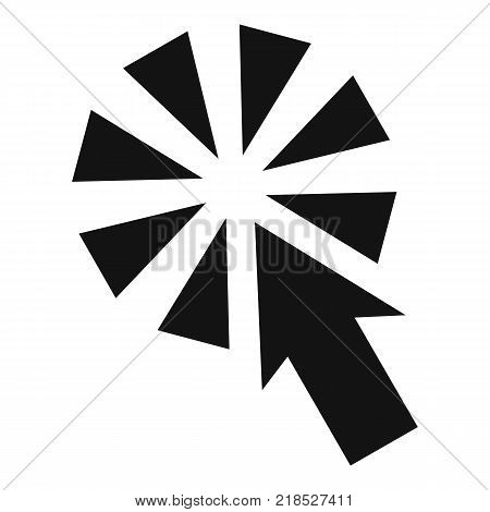 Cursor interactive click icon. Simple illustration of cursor interactive click vector icon for web