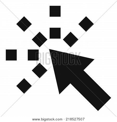 Cursor internet icon. Simple illustration of cursor internet vector icon for web