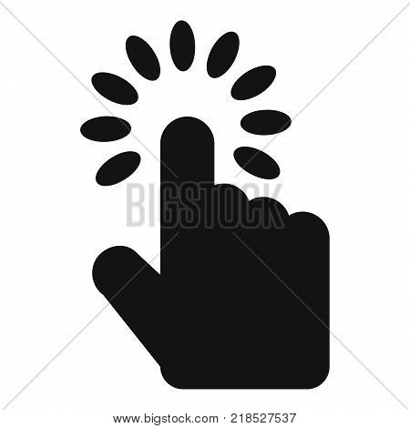 Hand cursor icon. Simple illustration of hand cursor vector icon for web