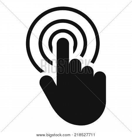 hand cursor web icon. Simple illustration of hand cursor web vector icon for web