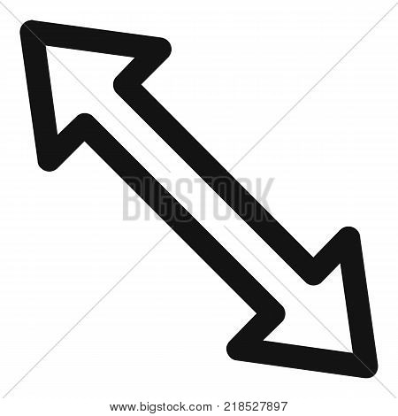 Cursor increase element icon. Simple illustration of cursor increase element vector icon for web
