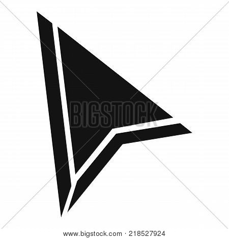 Cursor mouse element icon. Simple illustration of cursor mouse element vector icon for web