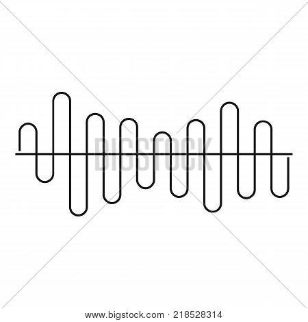 Equalizer volume sound icon. Simple illustration of equalizer volume sound vector icon for web
