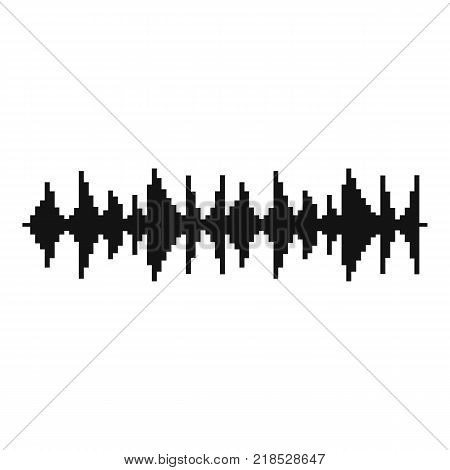 Equalizer song icon. Simple illustration of equalizer song vector icon for web