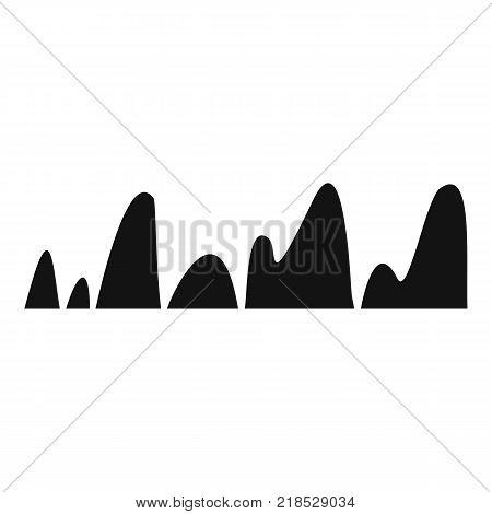 Equalizer tune radio icon. Simple illustration of equalizer tune radio vector icon for web
