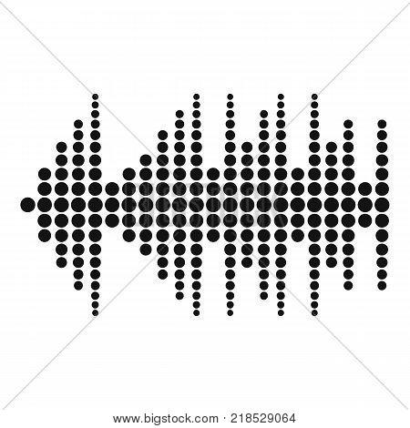 Equalizer effect radio icon. Simple illustration of equalizer effect radio vector icon for web