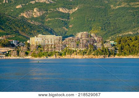 Montenegro Becici - May 30/2017: the opening of the Dukley hotel complex took place on the peninsula.