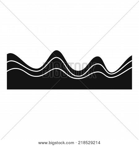 Equalizer sound effect icon. Simple illustration of equalizer sound effect vector icon for web