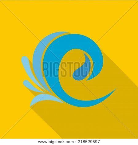 Wave tsunami icon. Flat illustration of wave tsunami vector icon for web