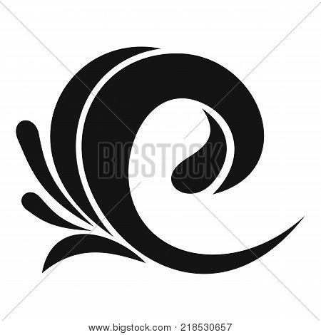 Wave tsunami icon. Simple illustration of wave tsunami vector icon for web
