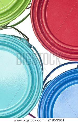 Paint Can Close Up Colorful Background