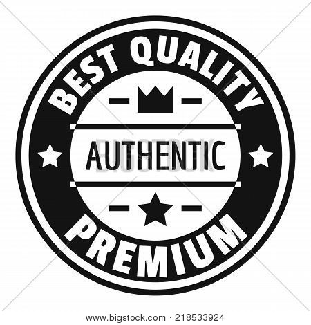 Best quality logo. Simple illustration of best quality vector logo for web