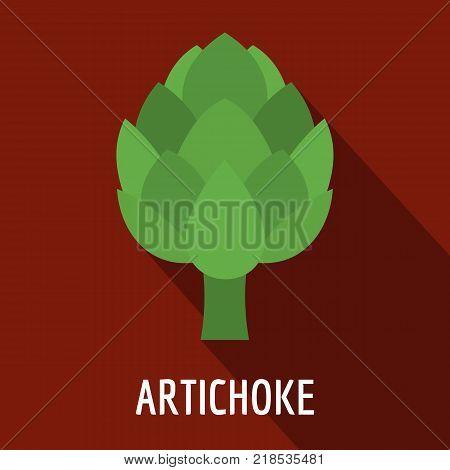 Artichoke icon. Flat illustration of artichoke vector icon for web