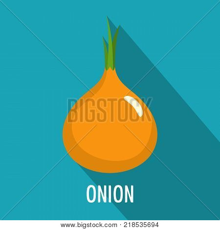 Onion icon. Flat illustration of onion vector icon for web