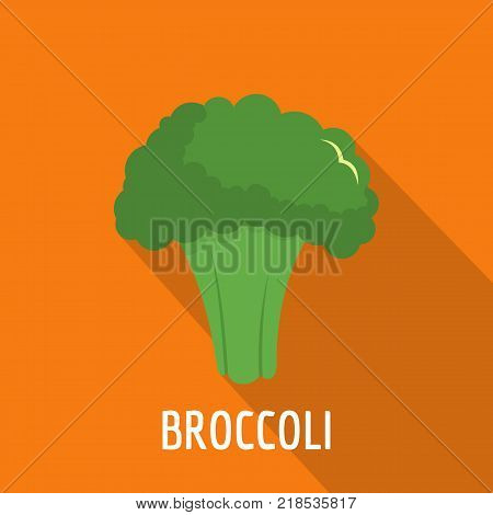Broccoli icon. Flat illustration of broccoli vector icon for web
