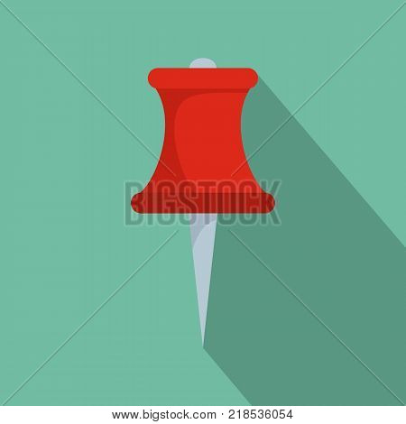 Sharp pin icon. Flat illustration of sharp pin vector icon for web