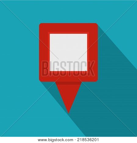 Square pin icon. Flat illustration of square pin vector icon for web