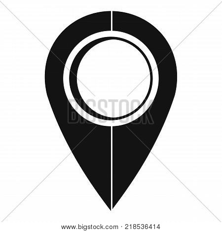 Map pin icon. Simple illustration of map pin vector icon for web