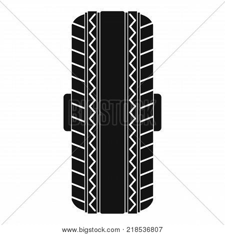 Rubber tyre icon. Simple illustration of rubber tyre vector icon for web