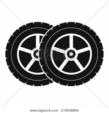 Car tyre icon. Simple illustration of car tyre vector icon for web