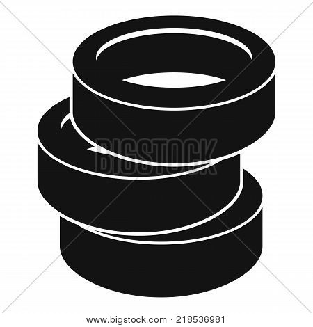 Stack of tire icon. Simple illustration of stack of tire vector icon for web