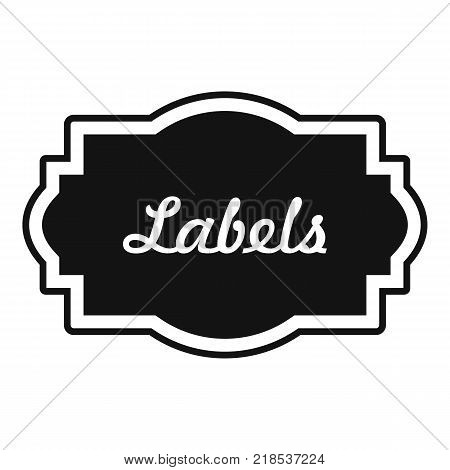 Nice label icon. Simple illustration of nice label vector icon for web