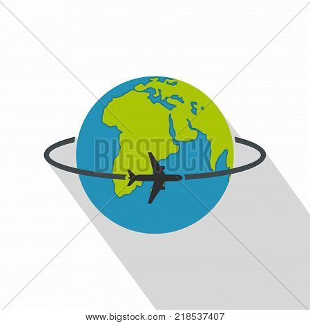 Worldwide icon. Flat illustration of worldwide vector icon for web