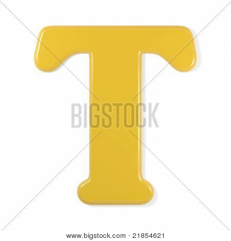 yellow font - letter t