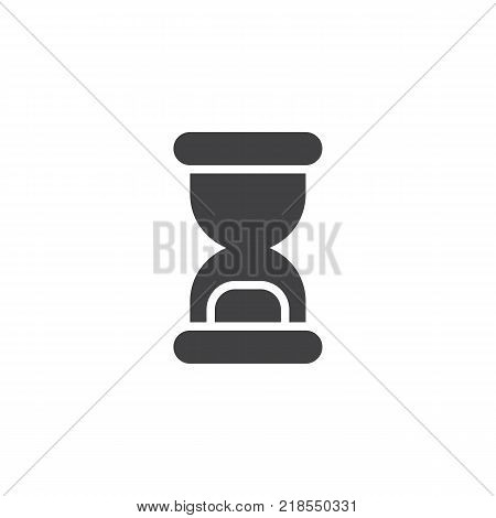 Hourglass icon vector, filled flat sign, solid pictogram isolated on white. Sandglass symbol, logo illustration.