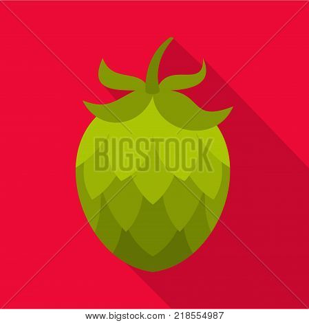 Hop icon. Flat illustration of hop vector icon for web