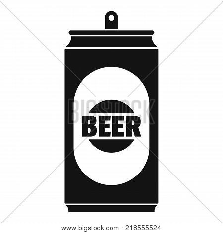 Beer can icon. Simple illustration of beer can vector icon for web