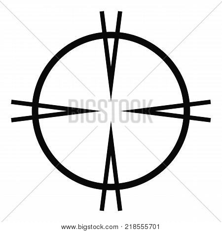 Focal target icon. Simple illustration of focal target vector icon for web