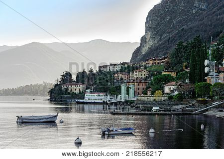 View of Menaggio town one of the small beautiful towns on Como lake, Lombardy, Italy