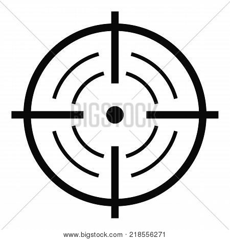 Rear sight icon. Simple illustration of rear sight vector icon for web