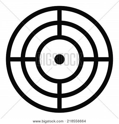 Objective of target icon. Simple illustration of objective of target vector icon for web