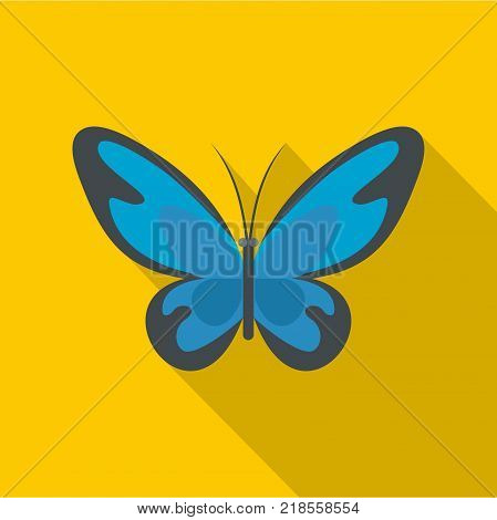 Flying moth icon. Flat illustration of flying moth vector icon for web