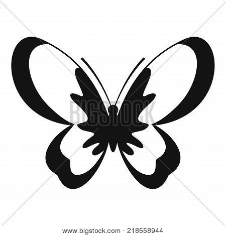Unknown butterfly icon. Simple illustration of unknown butterfly vector icon for web