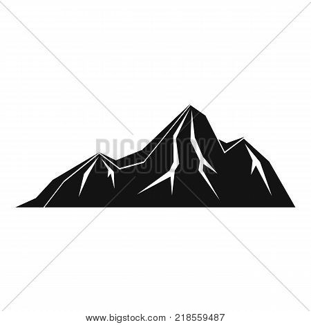 Tall mountain icon. Simple illustration of tall mountain vector icon for web