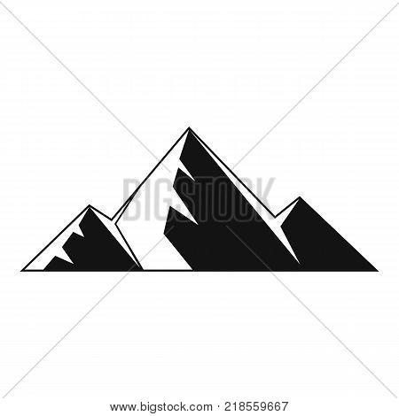 Mountain peak icon. Simple illustration of mountain peak vector icon for web