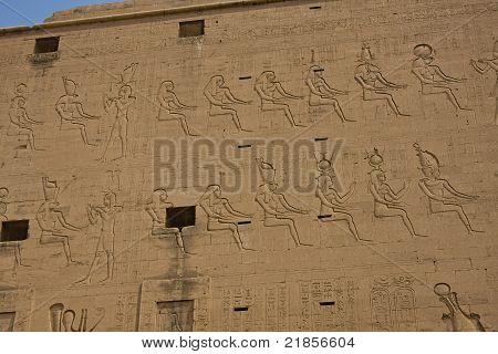 Ancient Edfu temple in Egypt
