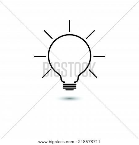Vector of light bulbs with glowing one. Idea and creativity concept with light bulbs.