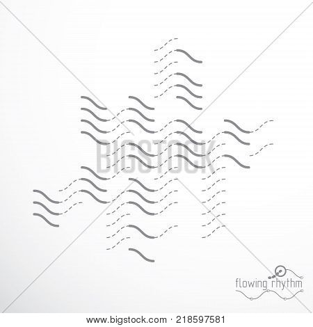 Abstract lines background engineering technology vector backdrop. Art graphic illustration.