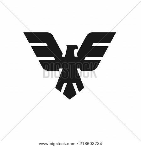 Eagle head logo Template, Hawk mascot graphic, bald eagle vector logo, eagle technology concept vector logo, eagle set of symbol logo, creative and modern eagle bird logo vector