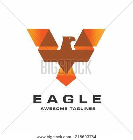 Eagle head logo Template, Hawk mascot graphic, bald eagle vector logo, eagle technology concept vector logo, eagle set of symbol logo, creative and modern eagle bird logo vector