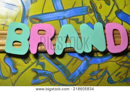 word barand on an abstract colored background